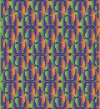 triquetra: Green and orange celtic knot triquetra background