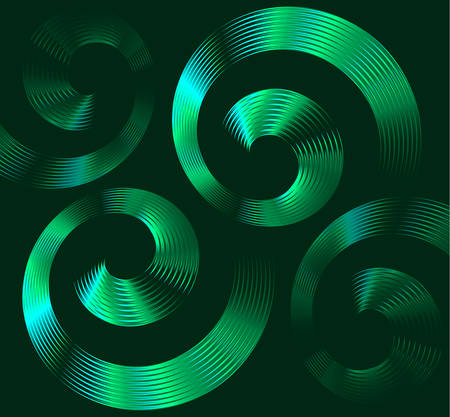 hypnotist: Abstract green spiral elements with space for text Illustration