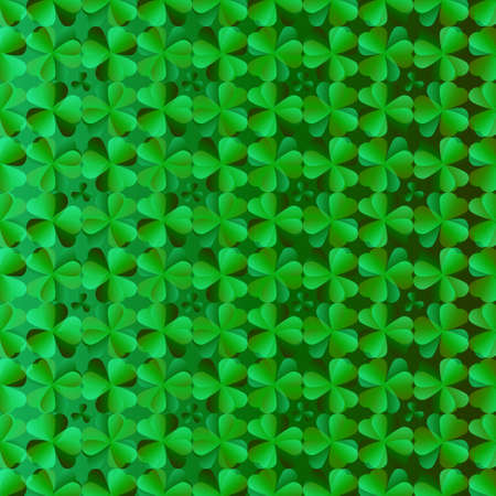 Abstract shamrock background for St. Patrick's Day Ilustracja