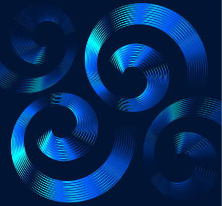 hypnotherapy: Abstract blue spiral elements with space for text