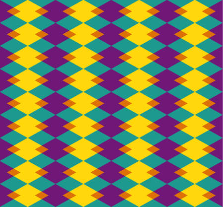 Abstract background with yellow-blue-violet-orange rhombus of different sizes