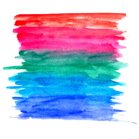 Abstract colorful hand drawn watercolor banner for any design workflow Stock Photo