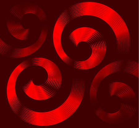 hypnotist: Abstract red spiral elements with space for text