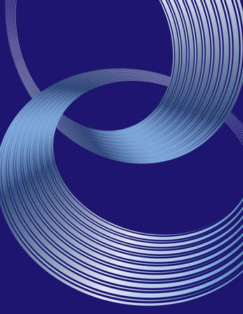 Abstract spiral circle text boxes on blue background