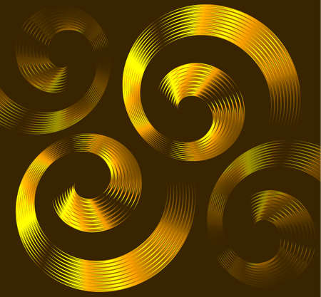 psychic: Abstract golden spiral elements with space for text Illustration