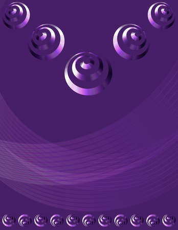 Abstract poster, banner, flyer, brochure, catalog, presentation, cover layout with spiral elements vector design on lilac background Illustration