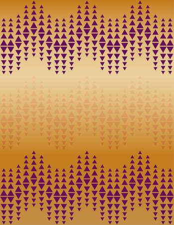 Abstract violet triangle pattern design on orange background 일러스트