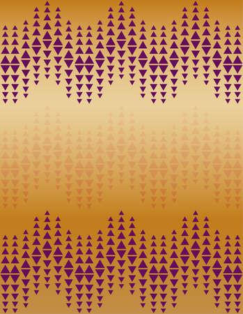 Abstract violet triangle pattern design on orange background Ilustracja