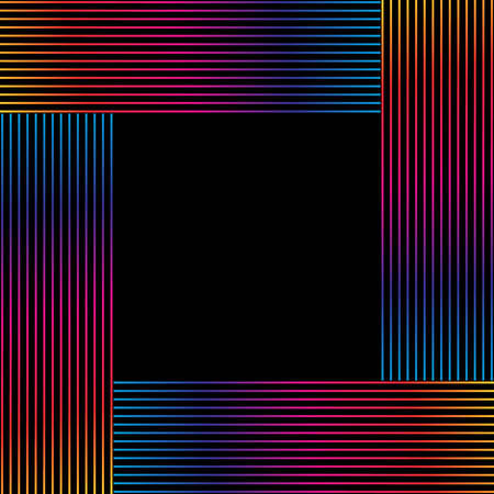 Abstract colorful lines frame vector for any design project