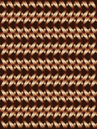 Abstract bronze twisted long rhombus with burgundy corners background