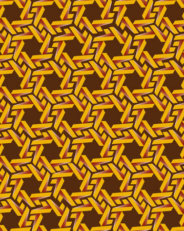 Abstract yellow gear elements on brown background