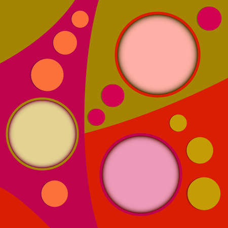 Abstract three round text boxes on colorful background Stok Fotoğraf - 44415439