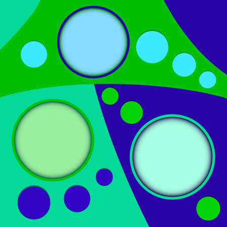 text boxes: Abstract three round text boxes with colorful decoration vector