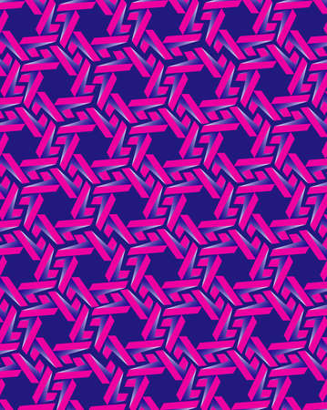 Abstract pink gear elements on blue background