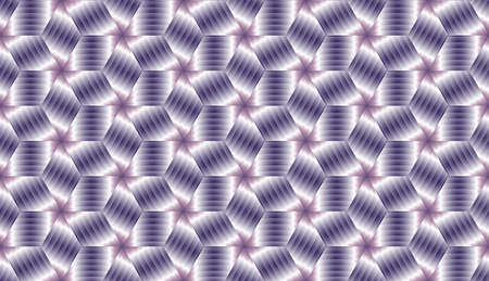Abstract violet metallic decorative  cube endless pattern design vector Illustration