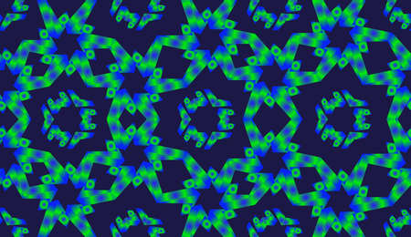 bluegreen: Abstract blue-green geometric elements seamless pattern with radial gradient effect
