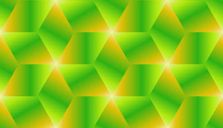 diagonals: Abstract green and orange gradient cubes seamless pattern design vector