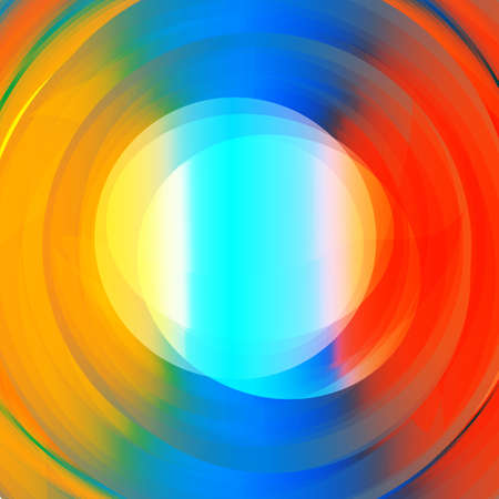 Abstract colorful vortex background with text space in the middle