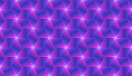 Abstract blue and pink gradient cubes seamless pattern design vector