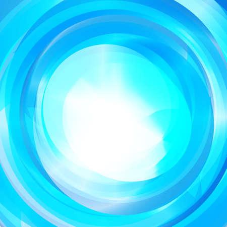 Abstract light blue vortex text presentation layout