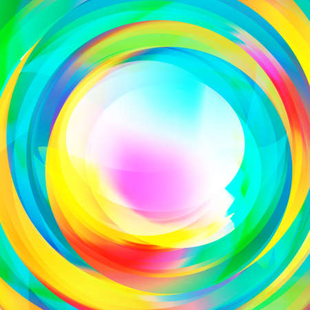 Abstract rainbow vortex background with text space in the middle Ilustracja