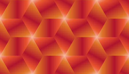 Abstract red and orange gradient cubes seamless pattern design vector