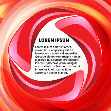 red swirl: Abstract red swirl text presentation template for design process
