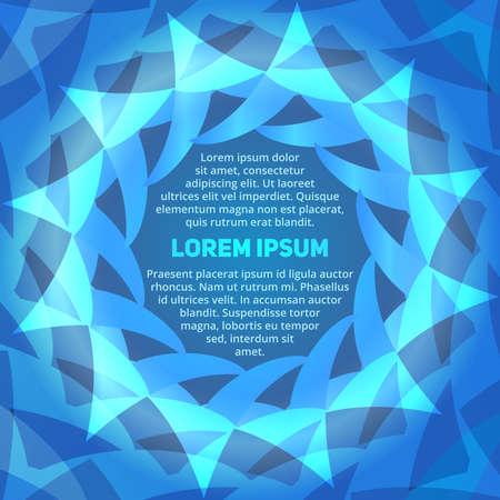 hypnotist: Abstract blue gradient circular presentation template for design workflow