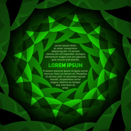 Abstract green circular text layout for design workflow 向量圖像