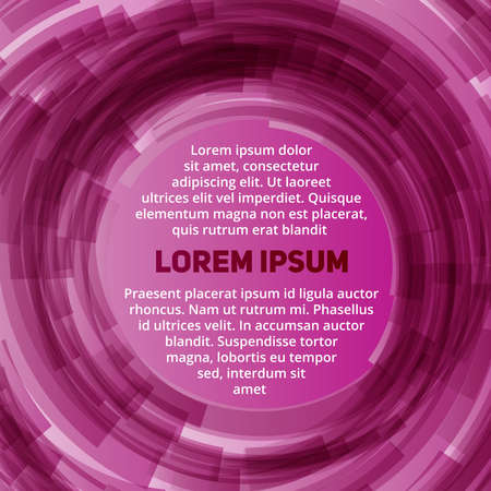 Abstract violet round text presentation template for design process 向量圖像