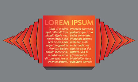 Abstract red square text layout with decorative sidepieces for any design project Stock Illustratie