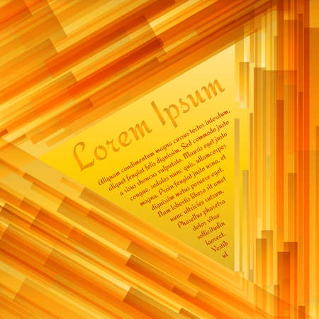 Abstract triangular text layout of orange and yellow gradient for any design workflow