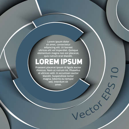 Abstract business template in circle shapes of grey shades