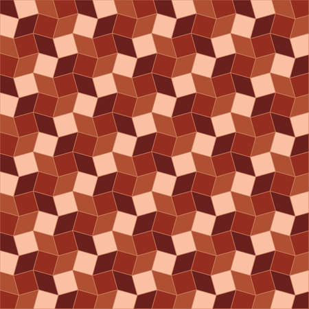 Abstract geometric background of  brown tint rhombus and square shapes