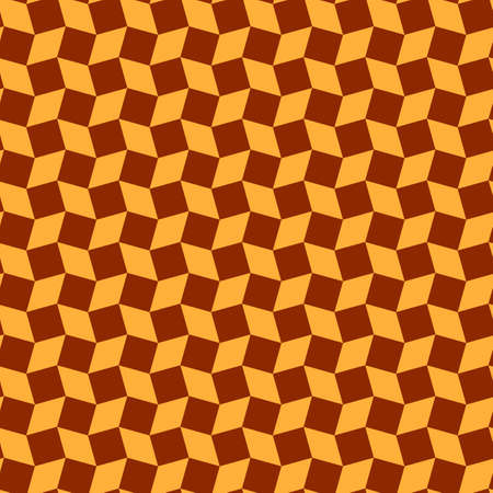 Abstract stylish rhombus and square shapes seamless pattern of orange and brown colors 일러스트