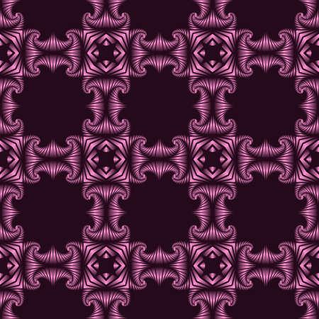 Abstract stylish nahtlose Muster mit violetten metallischen dekorativen Elementen auf dunklem violettem Hintergrund Standard-Bild - 60389391