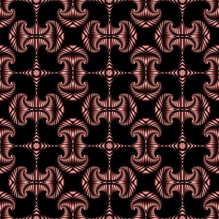 Abstrakte trendy nahtlose Muster mit roten metallischen dekorativen Elementen auf schwarzem Hintergrund Standard-Bild - 60389392