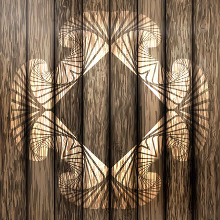 floorboard: Abstract decorative frame on brown plank wood background