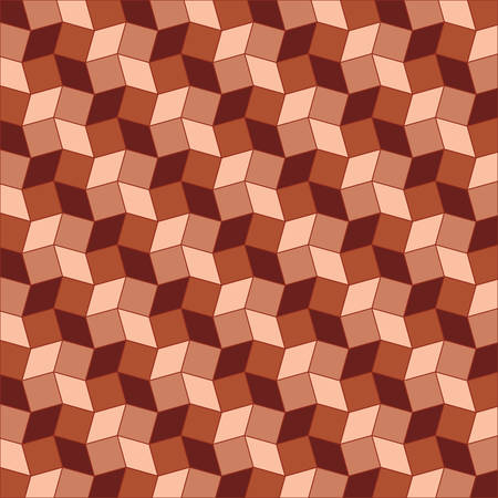 Abstract geometric background of  brown shades rhombus and square shapes