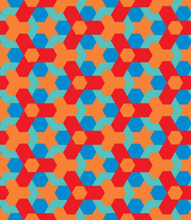 Abstract pop art decorative seamless geometric pattern vector