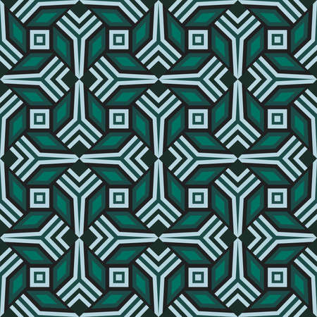Abstract trendy decorative seamless geometrical pattern of green and grey shades Stock fotó