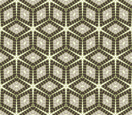 Abstract modern rhombus seamless pattern of grey, white and green shades