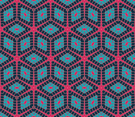Abstract stylish rhombus seamless pattern in pink and teal shades Stok Fotoğraf