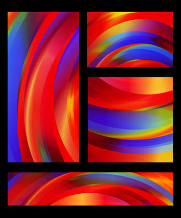 Collection of abstract colorful backgrounds of red, yellow, blue, green, and orange shades