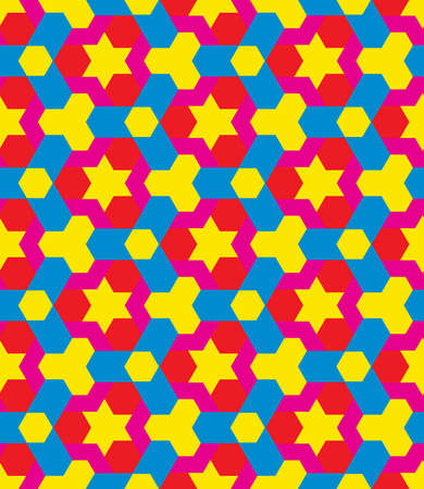 Abstract children colorful decorative seamless geometric pattern vector