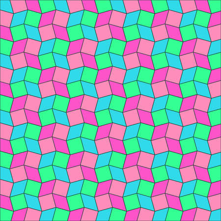 Abstract bright colorful geometric background of rhombus and square shapes