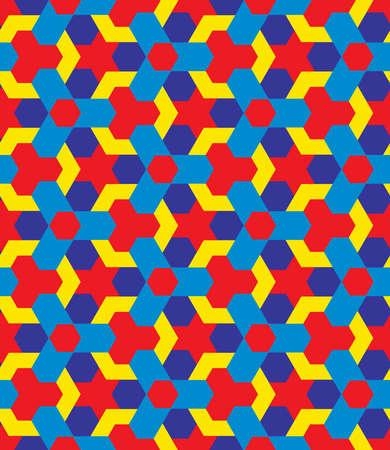 Abstract children multicolor decorative seamless geometric pattern