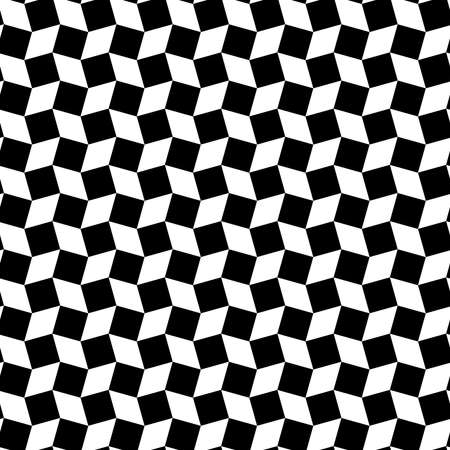 Abstract stylish rhombus and square shapes seamless pattern of black and white colors Çizim
