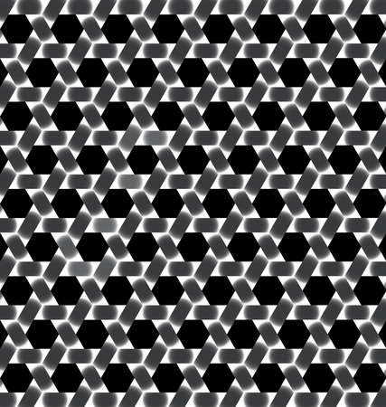 Abstract modern  black and white lattice with hexagon cutout background