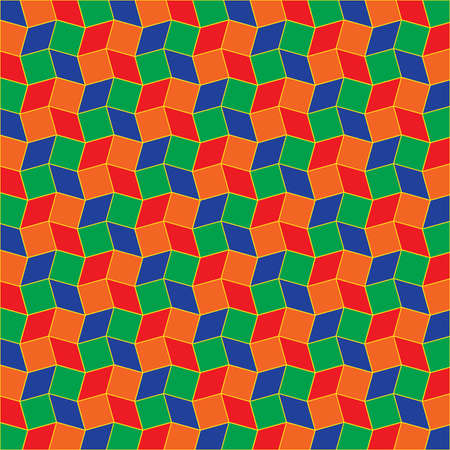 Abstract rainbow geometric background of rhombus and square shapes